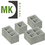 Konekt blocks with ventilation channels category